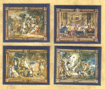 Malta Stamps SG 0592-95 1978 Flemish Tapestries 2nd Series - MINT