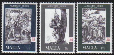 Malta Stamps SG 0596-98 1978 Albrecht Durer - MINT