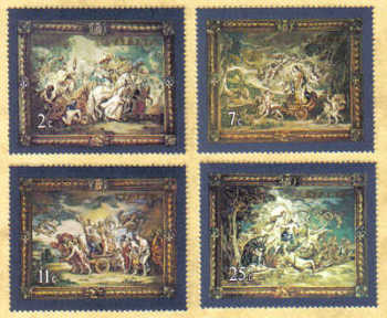 Malta Stamps SG 0615-18 1979 Flemish Tapestries 3nd Series - MINT