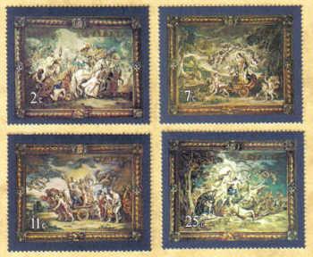 Malta Stamps SG 0615-18 1979 Flemish Tapestries 3nd Series - MINT