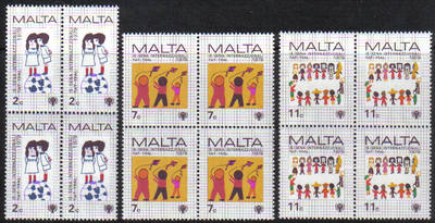 Malta Stamps SG 0627-29 1979 International Year of the Child - Block of 4 M