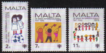 Malta Stamps SG 0627-29 1979 International Year of the Child - MINT