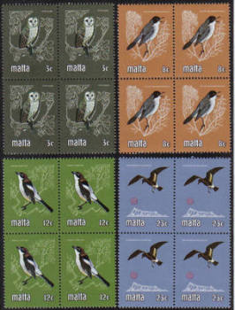 Malta Stamps SG 0655-58 1981 Birds - Block of 4 MINT