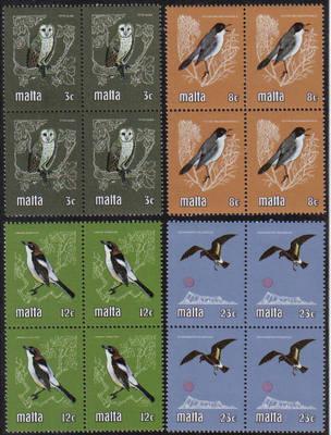 Malta Stamps SG 0655-58 1981 Birds - Block of 4 MINT