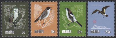Malta Stamps SG 0655-58 1981 Birds - MINT