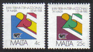 Malta Stamps SG 0661-62 1981 International Trade Fair - MINT