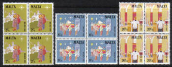 Malta Stamps SG 0683-85 1981 Christmas - Block of 4 MINT