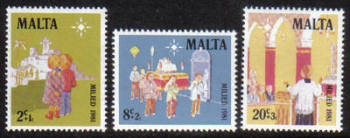 Malta Stamps SG 0683-85 1981 Christmas - MINT