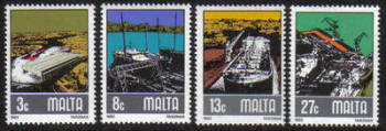 Malta Stamps SG 0686-89 1982 Shipbuilding industry - MINT