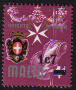 Malta Stamps SG 0575 1977 1c 7 Surcharge - MINT