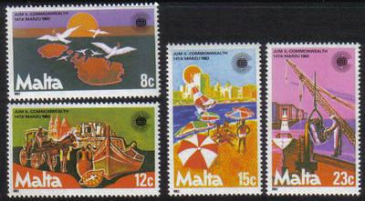 Malta Stamps SG 0708-11 1983 Commonwealth Day - MINT