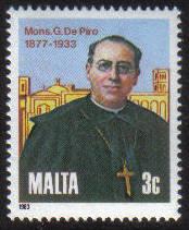 Malta Stamps SG 0718 1983 Giuseppe de Piro - MINT