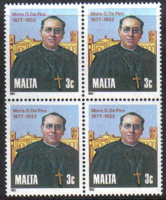 Malta Stamps SG 0718 1983 Giuseppe de Piro - Block of 4 MINT