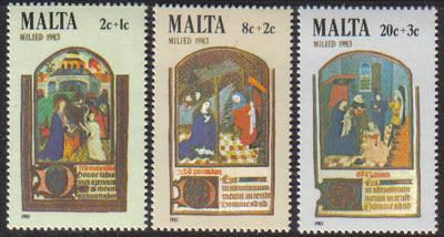 Malta Stamps SG 0719-21 1983 Christmas - MINT