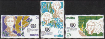 Malta Stamps SG 0756-58 1985 International Youth Year - MINT