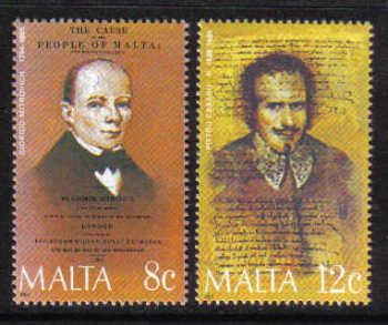 Malta Stamps SG 0767-68 1985 Maltese Celebrities - MINT