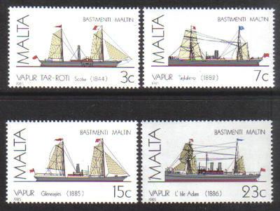Malta Stamps SG 0772-75 1985 Maltese Ships 3rd Series - MINT