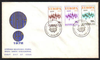 Cyprus Stamps SG 387-89 1972 Europa - Unofficial FDC (e972)
