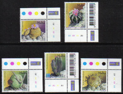 Malta Stamps SG 1274-78 2002 Cacti and Succulents - MINT (g017)