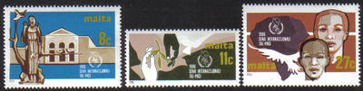 Malta Stamps SG 0776-78 1986 International Peace Year - MINT