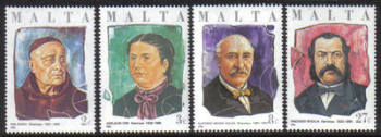 Malta Stamps SG 0785-88 1986 Maltese Philanthropists - MINT