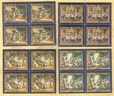 Malta Stamps SG 0592-95 1978 Flemish Tapestries 2nd Series - Block of 4 MIN