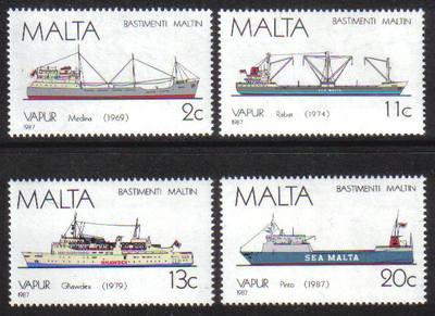 Malta Stamps SG 0809-12 1987 Maltese Ships 5th Series - MINT