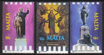 Malta Stamps SG 0824-26 1988 Religious Anniversaries - MINT