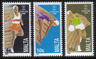 Malta Stamps SG 0836-38 1988 Seoul Olympic Games - MINT