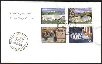 Cyprus Stamps SG 242-45 1964 William Shakespeare - Unofficial FDC (e982)