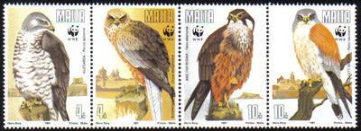 Malta Stamps SG 0898-901 1991 Endangered Species Birds - MINT
