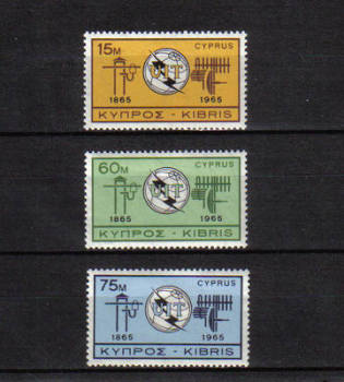 CYPRUS STAMPS SG 262-64 1965 I.T.U. - MH