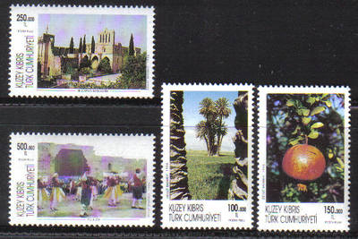 North Cyprus Stamps SG 422-25 1996 Tourism - MINT