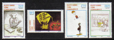North Cyprus Stamps SG 0544-47 2002 Caricatures - MINT