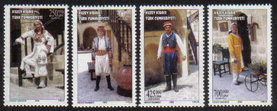 North Cyprus Stamps SG 0555-58 2002 Traditional Costumes - MINT