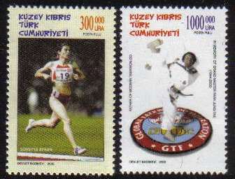 North Cyprus Stamps SG 0561-62 2002 Sporting Celebrities - MINT