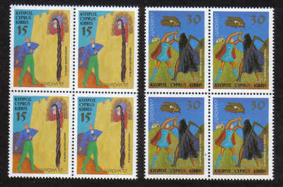 Cyprus Stamps SG 924-25 1997 Europa Tales and Legends - Block of 4 MINT