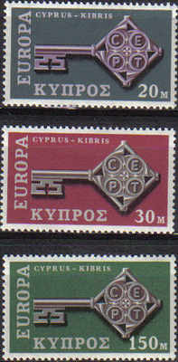 Cyprus stamps SG 319-21 1968 Europa Key - MINT