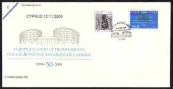 Cyprus Stamps SG 1206 2009 50 years of the European Court of Human Rights - Cachet Unofficial FDC (b659)