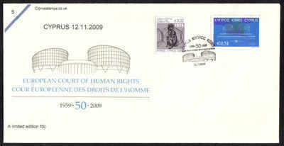 Cyprus Stamps SG 1206 2009 50 years of the European Court of Human Rights -