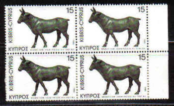 Cyprus Stamps SG 546 1980 15 Mils - Block of 4 MINT  (b575)