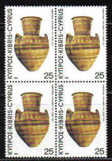 Cyprus Stamps SG 547 1980 25 Mils - Block of 4 MINT (b576)