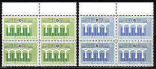 Cyprus Stamps SG 632-33 1984 Europa Bridges - Block of 4 MINT (b571)