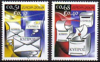 Cyprus Stamps SG 1162-63 2008 Europa The Letter - MINT