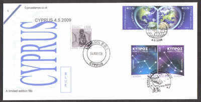 Cyprus Stamps SG 1186-87 and 1188-89 2009 4th of May issues - Unofficial FD
