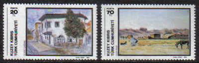 North Cyprus Stamps SG 157-58 1984 Art 3rd Series - MINT