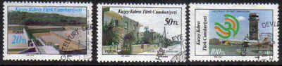 North Cyprus Stamps SG 197-99 1986 Modern Development 1st Series - Used (b6