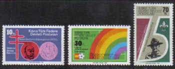 North Cyprus Stamps SG 129-31 1982 Anniversaries and Events - MINT