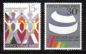 Cyprus Stamps SG 745-46 1989 Non-aligned conference - MINT