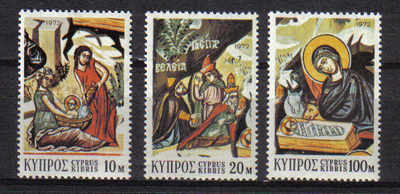 Cyprus Stamps SG 397-99 1972 Christmas - MINT